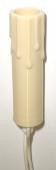 Fassung E10 isoliert in Kerzenschaftform mit Anschlußdrähten