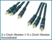Audio-Video-Cinchkabel / RGB-Kabel 10,0 m High Quality
